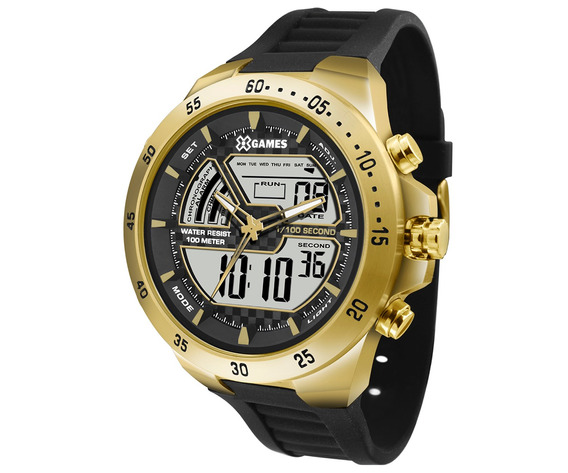 Relógio X-games Masculino Xteel Dourado Xmspa021-bxpx