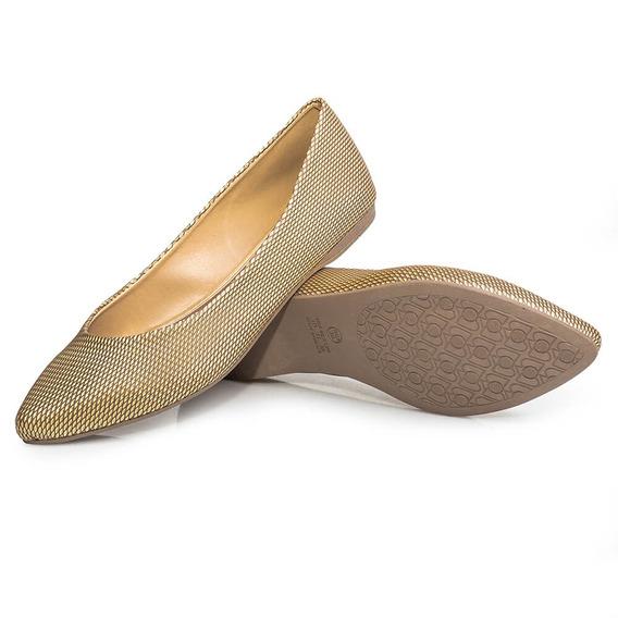 Sapatilha Feminina Flamarian Losango Fashion Ouro