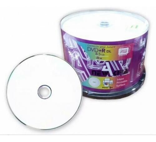 Dvd Dual Layer Printable 8.5gb New Akira 50 Unidades