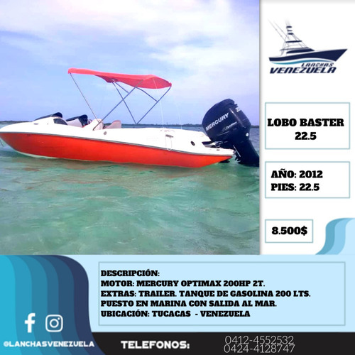 Lancha Lobo Baster 22.5 Lv381