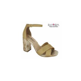 05267b3acd Sandalias Ramarim Salto Geometrico - Sapatos no Mercado Livre Brasil