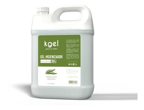 Álcool Gel 70% Antisséptico Higienizador - 5 Litros + Brinde