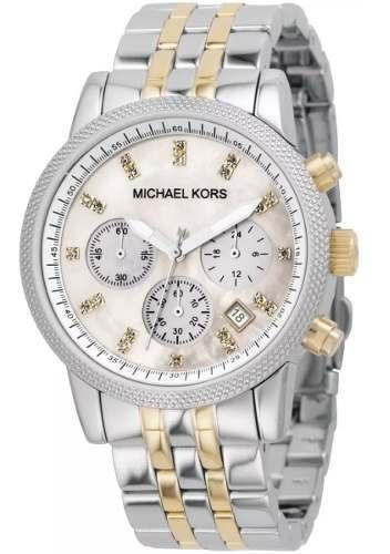 Relógio Michael Kors Mk5057 Prata Misto Madriperola