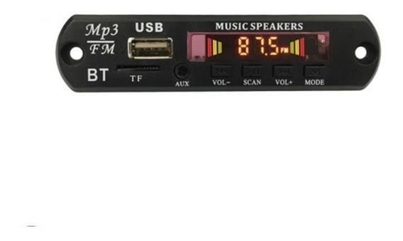 Placa Mp3 Player Usb Tf Fm Aux Cx Amplificadas 12v Bluetooth