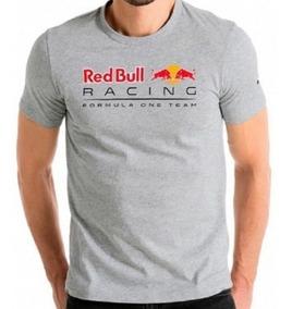 Camiseta Red Bull Racing F1 Team Cinza Claro Puma