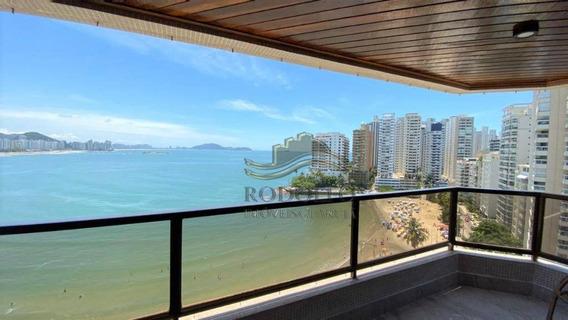 Apartamento Nas Astúrias Com Amplo Terraço Mobiliável Com Vista Frontal Para Toda A Praia. - Ap1109