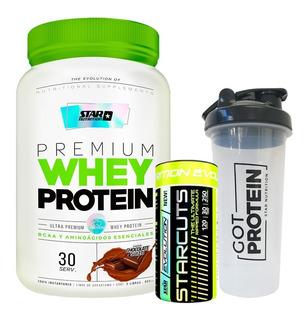 Whey Protein Star 2 Lb + Starcuts 120cap + Vaso