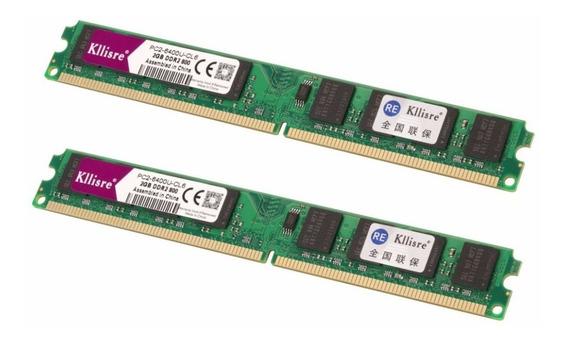 Kit 2 Memória Ddr2 2gb 800/667mhz Pc Pc2-6400u-cl6 Intel/amd
