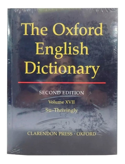 Livro The Oxford English Dictionary 2nd Vol. 17 Em Inglês