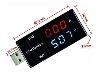 Tester Digital Usb - Voltimetro Y Amperimetro