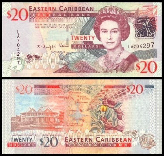 E C S Caribe P-49 Fe 20 Dollars 2008 * C O L *