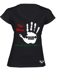 Sarcasmo-playera Jeep Wave2 Dama Negra