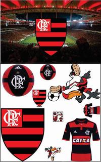 Cenário Display Flamengo 8 Peças + Painel 2 X 1,50