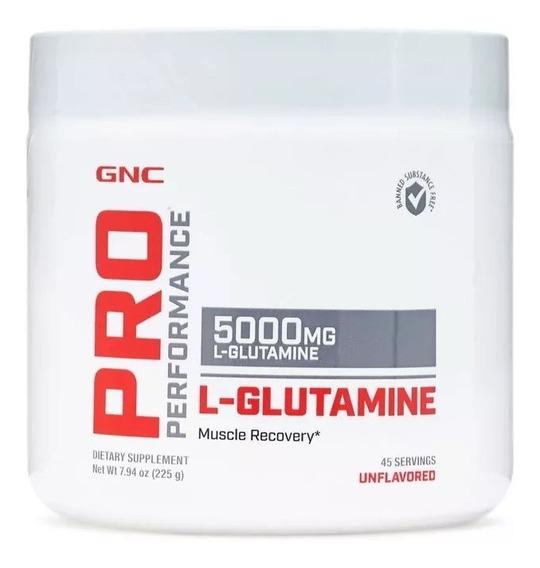 Glutamina L-glutamine 5000 Gnc- 225g