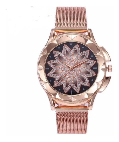 Relógio Pulso Feminino Céu Estrelado Vansvar Barato Promoção