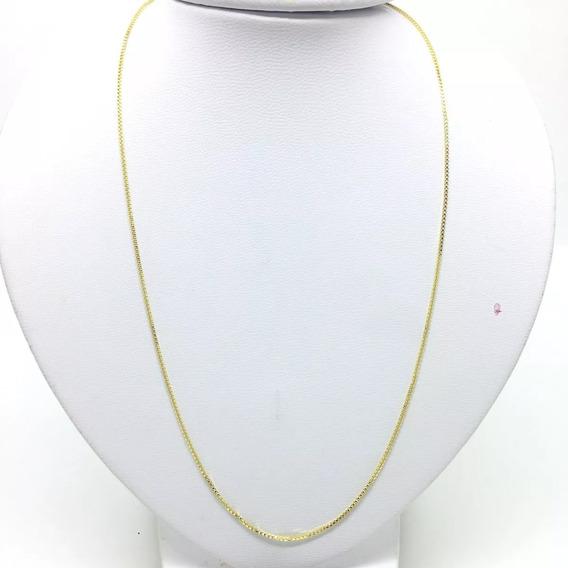 Corrente Unisex 45cm 1mm Banhada Ouro 18k Pronta Entrega