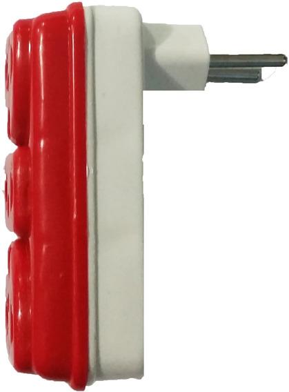 Adaptador Elétrico 3 Saídas Deslocado 256 Pçs P-008 Plug