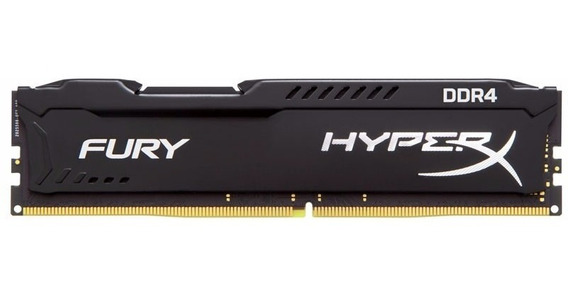 Memória Gamer Kingston Hyper X Fury Black Ddr4 4gb