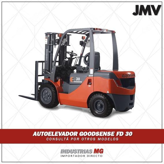 Autoelevador Goodsense Fd 30 Con Desplazador Lateral. Detall