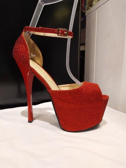 Zapato Dama Taco Aguja 16 Cm Talle 41