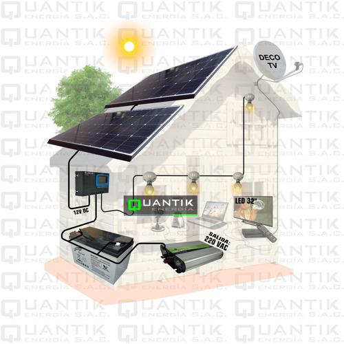 Panel Solar 280w,sistema Completo+batería+inversor+regulador