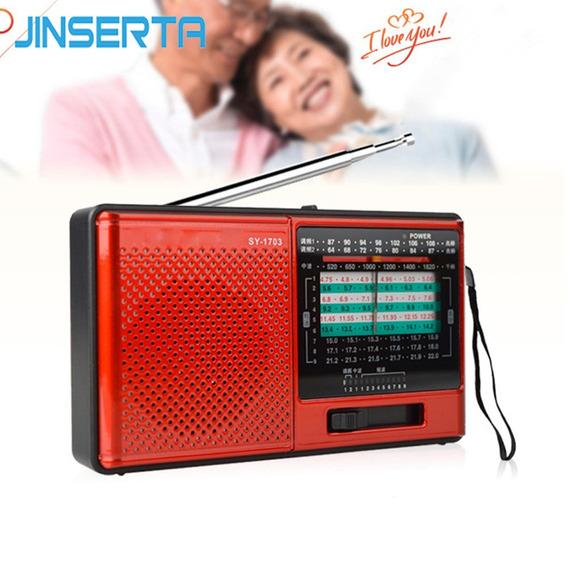 Rádio Merenda Sy-1703 Am/fm Stéreo/sw Dsp Vermelho