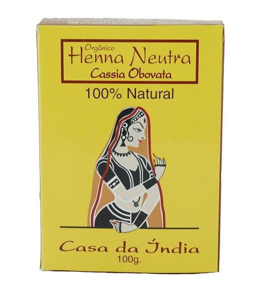 Henna Neutra (cassia Obovata) Casa Da Índia Frete Fixo