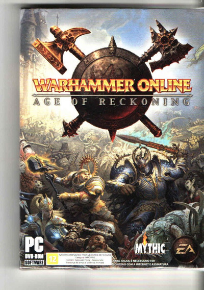 Warhammer Online - Age Of Reckoning - Pc Dvd-rom - Frete 12,