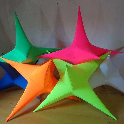 Imagem 1 de 6 de Estrela Neon (kit C/ 3 Estrelas) 0.70-cm