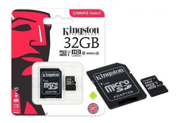 Cartão Memória Kingston Micro Sdhd 32gb Uhs-i U1 Canvas