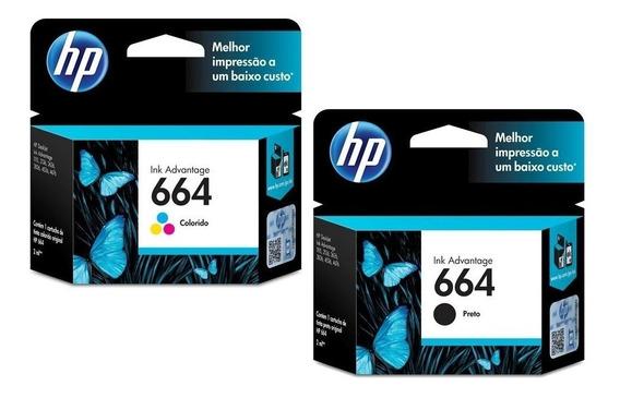 Kit Cartucho Hp 664 Preto E Color Impressora Deskjet 2676