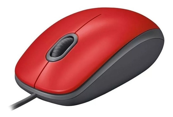 Mouse Logitech Usb 2.0 M110 Clique Silencioso Vermelho
