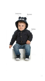 Casaco Infantil Masculino Barato Macio C/capuz Jaqueta/blusa