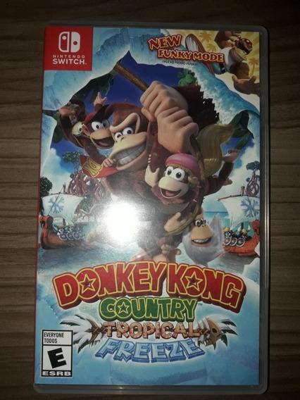 Donkey Kong Tropical Freeze Switch Midia Fisica