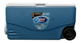 Caixa Térmica Coleman 100qt Xtreme Azul Coleman Com Roda