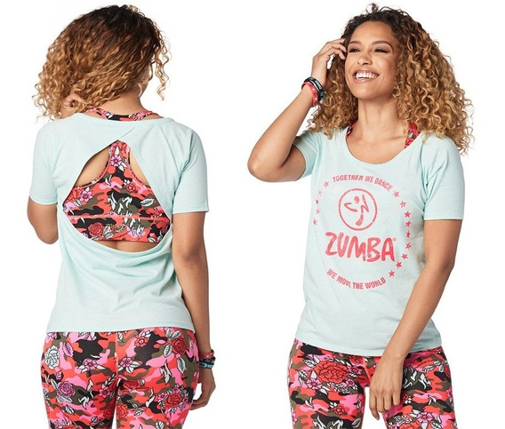 Remera Espalda Abierta Zumba Wear Together We Dance