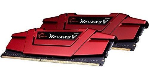Memoria Ram 16gb G.skill Ripjaws V Series (2 X 8gb) 288-pin Ddr4 Sdram Ddr4 2666 Modelo F4-2666c15d-16gvr