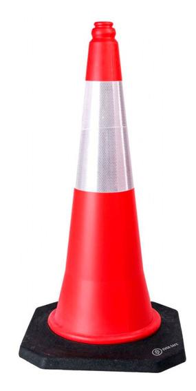 Cono Vial Ever Safe Semi Flexible 75cm Base Rigida Pesada