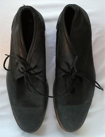 Zapatos Casual Negros Acordonados Tascani Talle 42