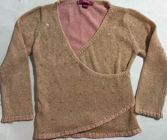 Sweater De Hilo Con Brillos Y Lentejuelas A Tono T 7