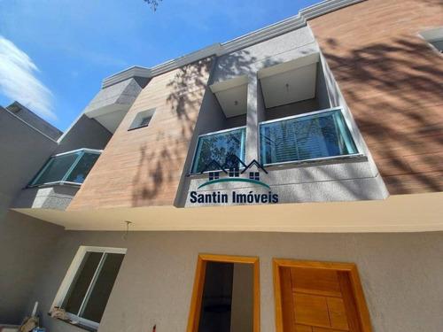 Sobrado Com 3 Quartos,(01 Suíte )espaço Gourmet, 03 Banheiros, 02 Vagas À Venda, 67 M² Por R$ 350.000 - Jardim Utinga - Santo André/sp - So0419