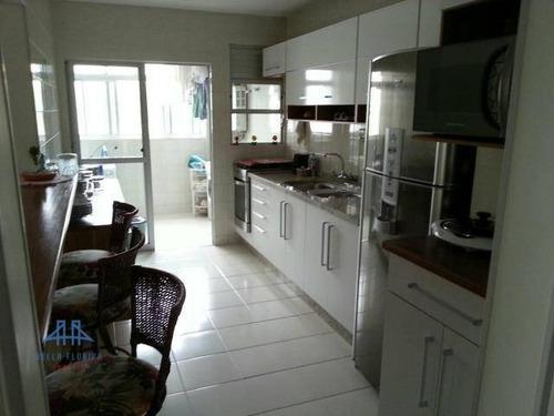 Imagem 1 de 13 de Apartamento Com 4 Dormitórios À Venda, 128 M² Por R$ 690.000,00 - Córrego Grande - Florianópolis/sc - Ap1324