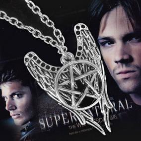Colar Supernatural Sobrenatural Anjo Castiel Seriado Prata