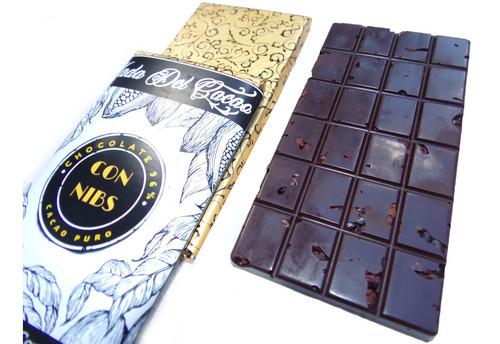 Imagen 1 de 10 de Pack 5 Chocolate (500 Gr)96% Cacao Puro Con Nibs Sinazucar