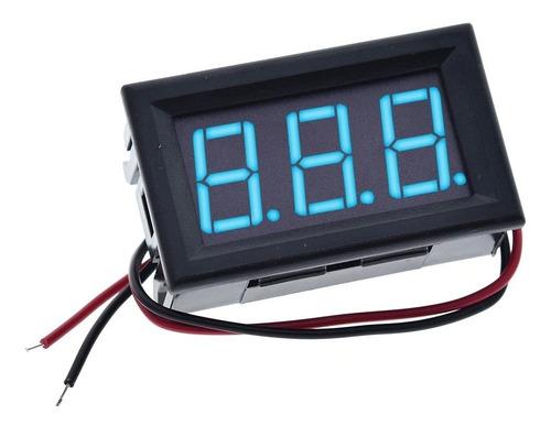 Voltimetro Digital 70v - 500v Ac 0.56 Pulgadas Color Azul