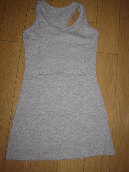 Musculosa Gris Melange Larga Ideal Calza T: 2