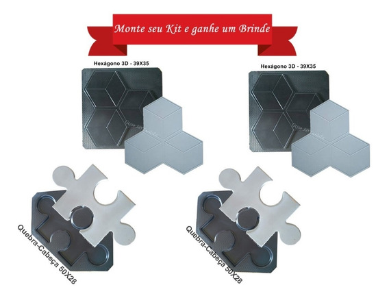 Kit 4 Formas 2mm Plástico Abs Para Gesso 3d/cimentício.