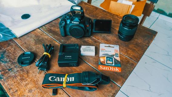 Canon T5i + Lente 18-55mm + Cartão 16gb A Vista 1799,00