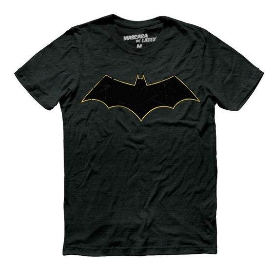 Playera Batman Rebirth Logo Mascara De Latex Dc
