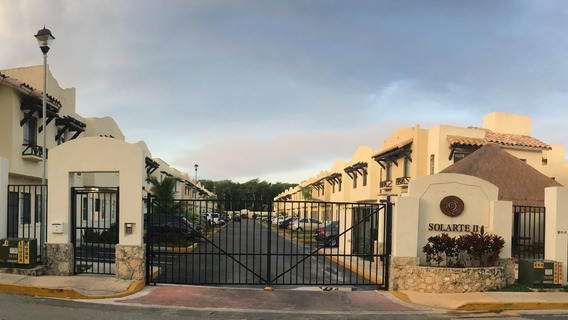 Casa En Renta De 2 Recamaras Privada Con Alberca Playa Del Carmen P3308